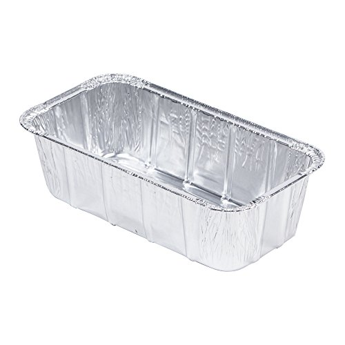 """MT Products Disposable Aluminum Foil 1.5 Lb Loaf / Bread Pan - 29 oz., 7.375"""" Length x 3.625"""" Width x 2.343"""" Height - Pack of 40"""