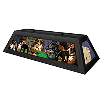 Dogs Playing Poker Pool Table Light   Black