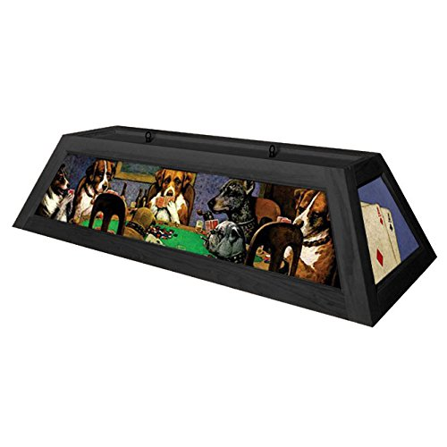 Dogs Playing Poker Pool Table Light - Black