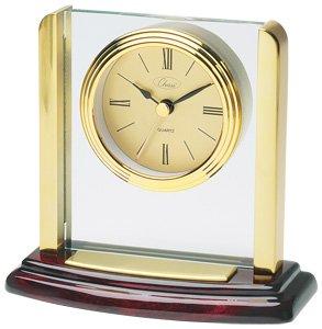 Chass Small Pillar Clock in Mahogany Finish
