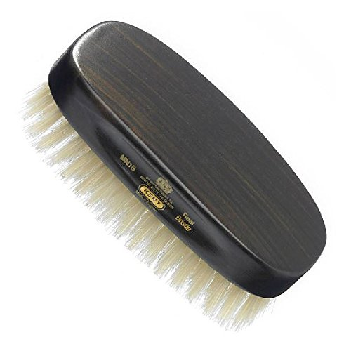 Kent Men's Ebony Wood Military Style Natural Bristle Brush by Kent
