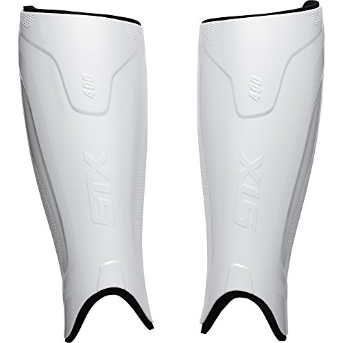 STX Field Hockey Stallion 400 Shin Guard, White S/M