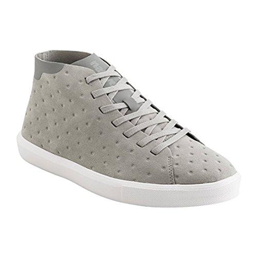 Native Mens Monaco Mid Wax Canvas Fashion Sneaker Piccione Grigio / Bianco Conchiglia