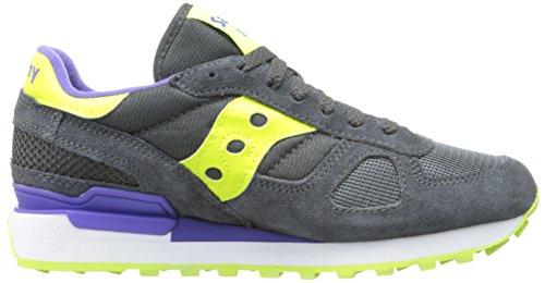 sneaker Saucony unisex adulto Grigio pelle bassa scamosciata Shadow Original waqZFaxnBY