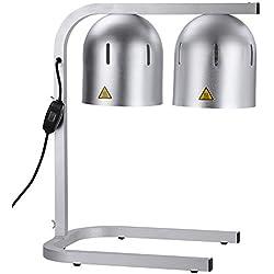 Commercial Food Heat Lamp Dual Bulb Countertop Buffet Food Court Restaurants