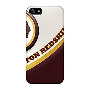 BrownCases Fashion Protective Washington Redskins Case Cover For Iphone 5/5s