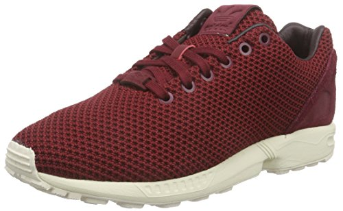 adidas ZX Flux - Zapatillas de gimnasia Hombre Rojo - Rot (Collegiate Burgundy/Night Red/Chalk White)