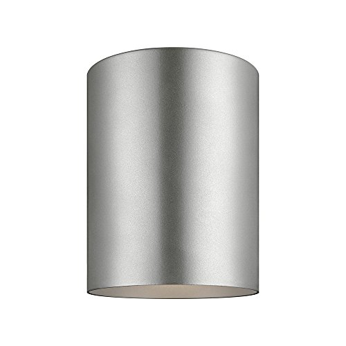 Sea Gull Lighting 7813891S-753 Outdoor Cylinders LED Flush Mount Ceiling Light, Painted Brushed Nickel - Bullet Ceiling
