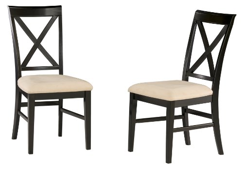 Lexington Dining Chairs (set of two) w/ Seat Cushions Antique Walnut/Oatmeal
