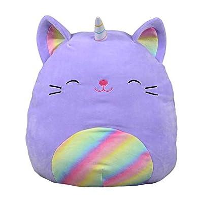 Squishmallows Kellytoy Cienna The 16 Inch Purple Rainbow Caticorn Plush Stuffed Animal Pillow Pet: Home & Kitchen
