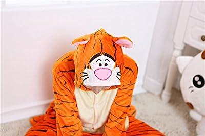 Halloween Tiger Onesie Costume Unisex-Adult Animals Tiger Pajamas