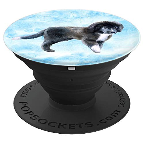 (Cute Newfoundland Puppy Dog Lover - PopSockets Grip and Stand for Phones and Tablets)