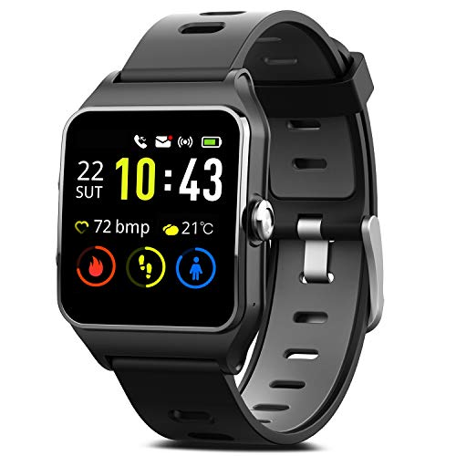 MorePro GPS Smart Watch with 17 Sports Mode Cycling Running Watches IP68 Swimming Waterproof Fitness...