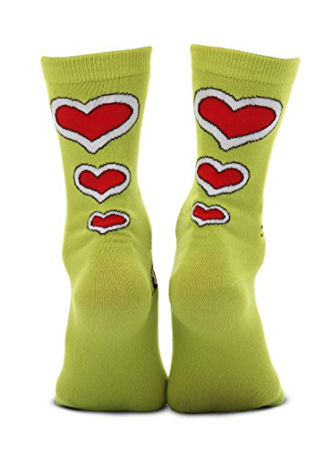 elope Dr. Seuss Grinch Christmas Costume Crew Socks Green - http://coolthings.us