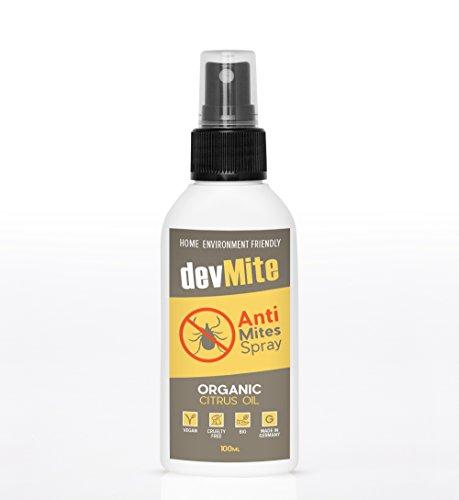 Milbenspray für Matratzen von devMite   100ml BIO Ungezieferspray gegen Milben   100% Natürliches Milbenschutz Spray   Tolle Milbenbezug Alternative