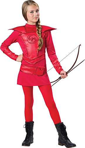 Ultimate Warrior Fancy Dress Costumes - UHC Girl's Warrior Huntress Outfit Fancy Dress Kids Halloweem Costume, S (8-10)
