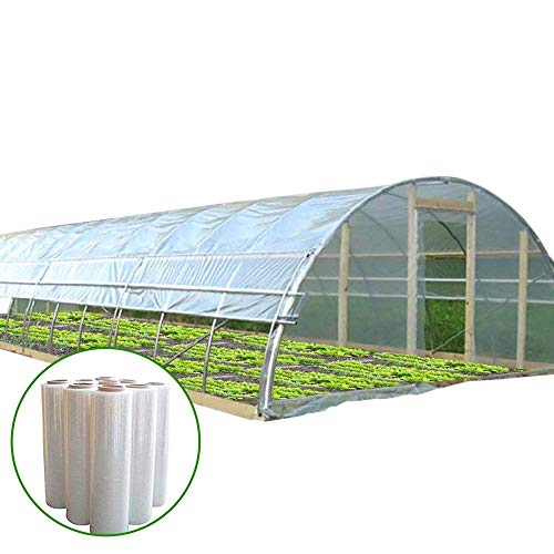 - Agfabric 5.5Mil Plastic Covering Clear Polyethylene Greenhouse Film UV Resistant for Grow Tunnel and Garden Hoop, Plant Cover&Frost Blanket for Season Extension, W18'xL50'