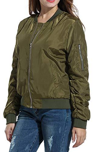 Manica Outerwear Outdoor Primaverile Lunga Vintage Con Jacket Giaccone A Slim Colore Armygreen Festivo Giacca Autunno Elegante Puro Fit Chiusura Tasche Moda Donna Cerniera Cappotto CXqxBwz