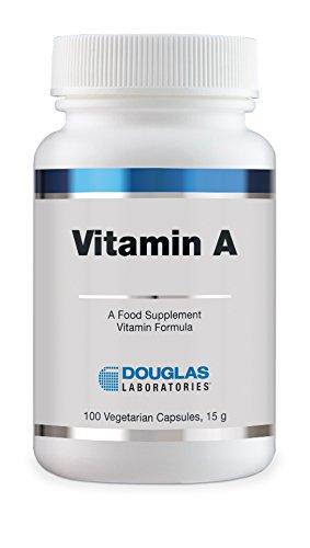 Vitamina A 4000 IU - cápsulas vegetarianas 100 - Douglas ...