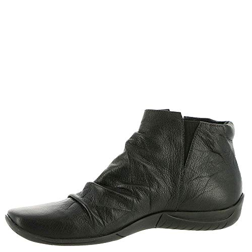 Walking Cradles Womens Abigail Leather Square Toe Ankle, Black, Size 10.5