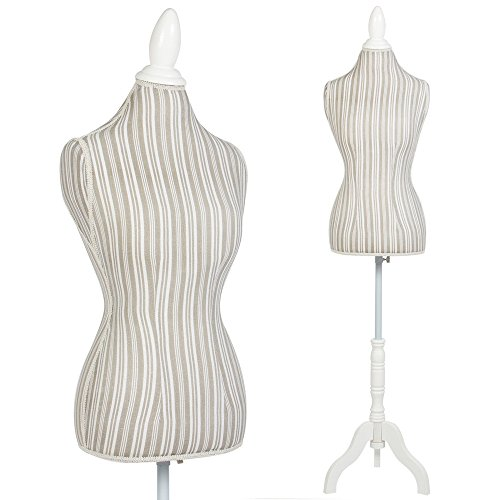 Female Mannequin Torso Dress Form Display With White Tripod Stand (Pirate Attire Ideas)