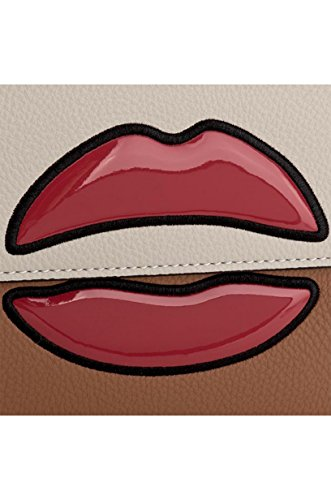 ARMANI JEANS Bolso con correa de hombro, mujer, 922282-7A804, labios, cuero