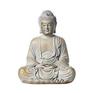 Zen Decor Garden Statues Buddha Statue Garden Ornament Zen Outdoor Sitting Meditating Stone Buddha – Effect Indoor and…