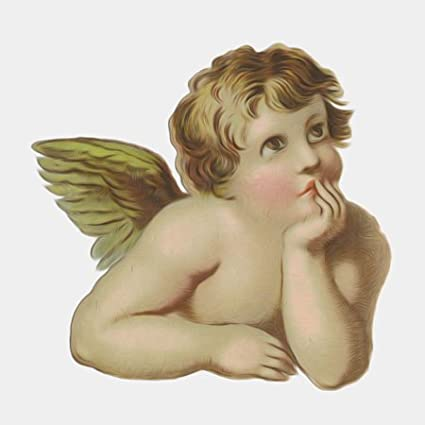 3dRose lsp/_104695/_2 Vintage Victorian Thinking Angel Cherub Double Toggle Switch Multicolor