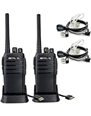 Retevis RT21 Two Way Radio Rechargeable USB Charging UHF FRS CTCSS/DCS VOX Scan Squelch Walkie Talkies with Covert Air Acoustic Earpiece(2 Pack)