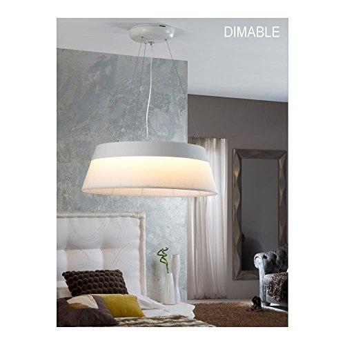 Schuller Spain 682518I4L Modern white Hanging Ceiling Light Pendant 1 Light Dining Room, Living Room, Bedroom LED | ideas4lighting by Schuller