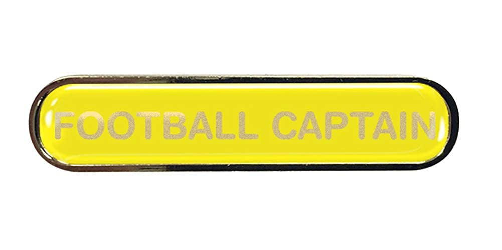 Football Captain Gel Domed School Bar Badge