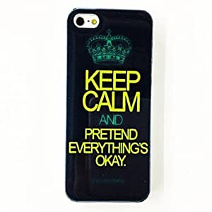Punk Crown Keep Calm Pattern TPU Soft Case for iPhone 5/5S , Multicolor