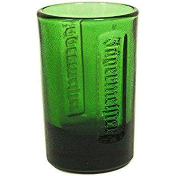 Set of 6 JAGERMEISTER GREEN GLASS SHOT GLASSES EMBOSSED LOGO Brand NEW Jager