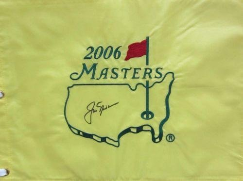 2006 Jack Nicklaus Masters Authentic Signed Flag Loa S12953 - PSA/DNA Certified - Autographed Pin Flags by Sports...