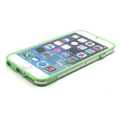 """HuaYang Nouveau Silicone Gel Edge cas couverture Bumper Frame durable pour Iphone 6 4.7""""(vert)"""