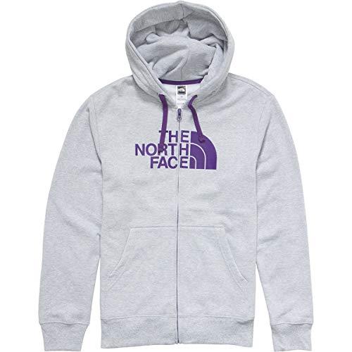(The North Face Men's Half Dome Full Zip Hoodie Heather Grey/Hero Purple)