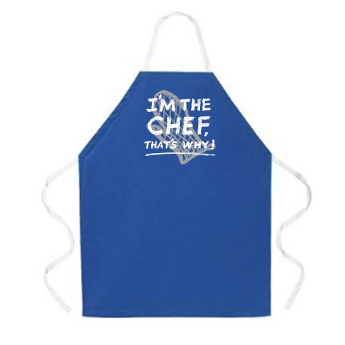 (Attitude Aprons Fully Adjustable I'm the Chef That's Why! Apron, Dark Blue, One Size Fits Most)