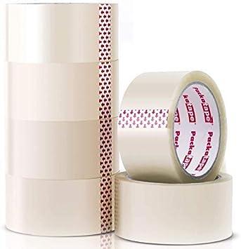 """Paquete De 2/"""" Rollos de Cinta de Embalaje Transparente 48mm X 66m embalaje de cartón de Sellado SELLOTAPE"""