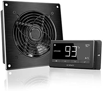 AC Infinity AIRTITAN T3, Ventilation Fan 6 with Temperature Humidity Controller, for Crawl Space, Basement, Garage, Attic, Hydroponics, Grow Tents