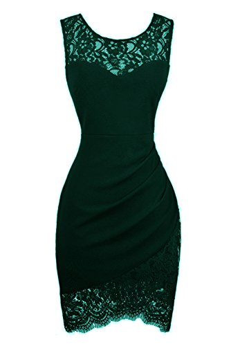 black and green lace dress - 4