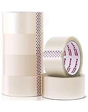Packatape | Pakketplakband transparant | 66 m lang en 48 mm breed | Ideaal als plakband, pakketband, verpakkingsmateriaal & verpakkingsband | 6 rollen