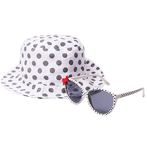 EYEGUARD UV400 Bowknot Design Kids Sunglasses and Sun Hats Combo Children Outdoor Cap(5-12 years - And Sunglasses Hats