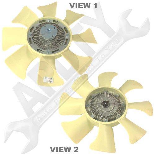 APDTY OK02815140 Radiator Cooling Fan Clutch & Blade Assembly Fits 1997-2001 Kia Sportage (MFG Date Up To 6-21-2001; Replaces 0K048-15-140A, 0K01115140, 0K02815140, OK01315140, 114 28003 758)