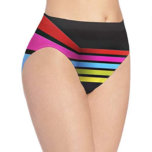 - Womens Underwear Rainbow Stripes Wallpaper Fantastic Bikini Brief Hipster Panty
