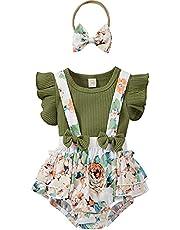 طفل الصيف طفل الفتيات زهرة الطباعة ثلاث قطع مجموعة الطائر كم بلايز + شورت الحمالة + مجموعة عقال (Color : G, Kid Size : 12M)
