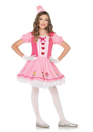 Lil Miss Cupcake Costumes (Leg Avenue Costumes 2Pc.Lil' Miss Dress with Cupcake Skirt Accents and Headband, Pink, Medium)