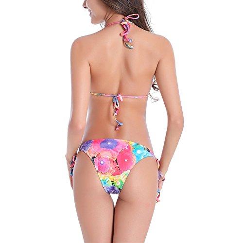 JIAJIA - Conjunto - Floral - Sin mangas - para mujer Flowers