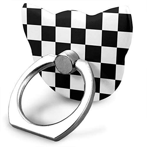 - Checkerboard-Black & White Grphic.jpg Phone Ring Stand Holder Metal Finger Grip Stand Holder Ring,Car Mount 360 Rotation Phone Ring Grip for Tablet PC Smartphone
