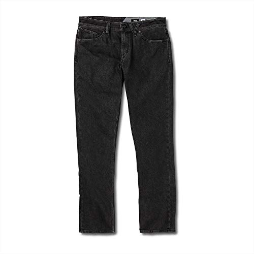 (Volcom Men's Vorta Slim Fit Stretch Denim Jean, Grateful Black, 33X32)