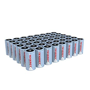 Image of Tenergy C Size Battery 1.2V 5000mAh High Capacity NiMH Rechargeable Battery for LED Flashlights Kids Toy and More (48 pcs) C